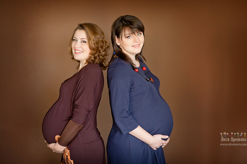 Фото беременные сестры