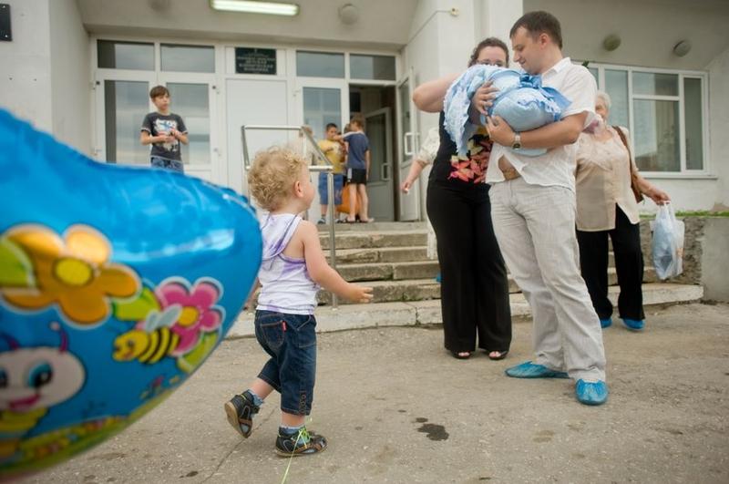 Рассказ о том, как в большой и дружной семье появился Мишенька.