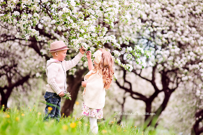 Идеи с детьми весной