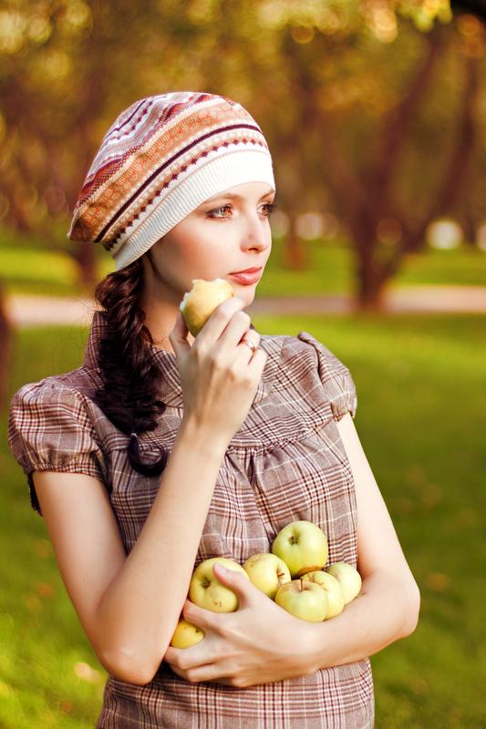 Идеи для фото с яблоками