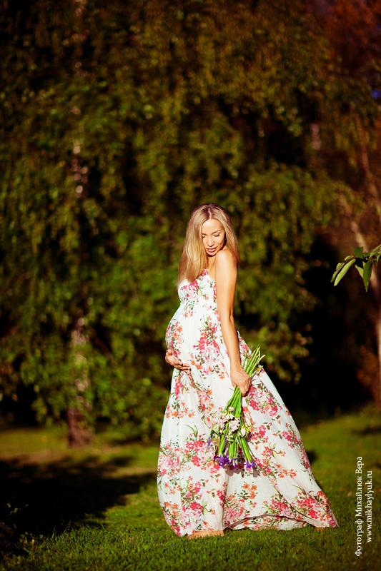 Фото беременной на природе летом 44