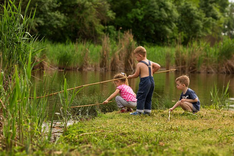 просто рыбалка деревенская речка